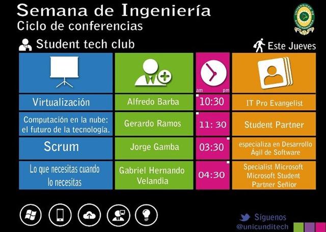 Agenda Semana de Ingerniería - Student Tech Club